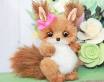 Sewing Pattern PDF For 4,5 Inch Squirrel