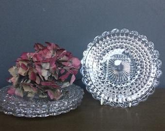 Set of Four Vintage Glass Plates