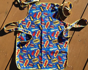 Apron, Children's Apron, Chef's Apron, Personalized Apron, Superhero Apron