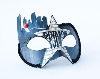"Minneapolis Masquerade Mask!  Masquerade Mask, Prince Mask, Mask on a Stick, Mens Mardi Gras Mask, Minnesota - The ""Prince"""