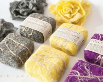 Felted soap. Colorfull handmade felted soaps. Exfoliating Soap. Gift Set. Flax wool soap. Natural organic soap. Lavender soap. Olive soap.