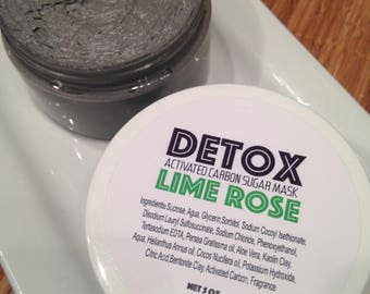 Detox Activated Carbon Sugar Mask