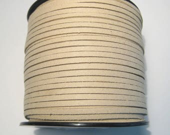 15ft Light Brown Faux Suede Cord 3mm ( No.122)