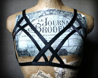 Shadow harness bra cage lingerie top