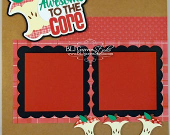 Awesome to the Core Premade Scrapbook Page 12x12 Layout Paper Piece Handmade 59
