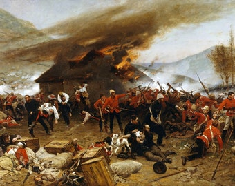 The Defence of Rorke's Drift Painting by Alphonse de Neuville Art Reproduction