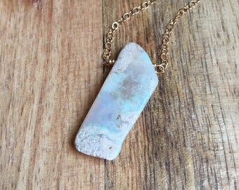 Raw Opal Necklace - Opal Necklace - Opal Jewelry - Raw Stone Necklace - October Birthstone Necklace - Gift For Her