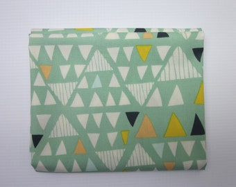 Triangle Fabric - Mint Green Fabric - Fabric by the Yard - Mojave - Morning Walk- Leah Duncan - Art Gallery Fabrics - Quilting Weight Cotton