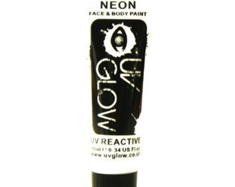 White UV Glow Neon Body Paint - Glowing Body Paint - 0.34 / 10ml tubes