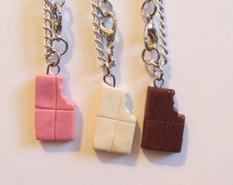 Cute Chocolate Polymer Clay Necklace BJD MSD Minifee Doll Clothing 1/4 42-45cm