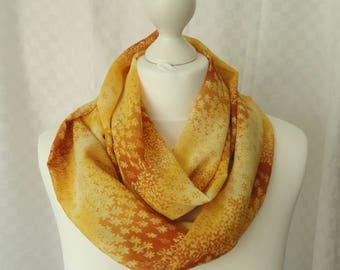 African print infinity scarf, Circle scarf, African scarf, Print scarf, Scarf for her, Lightweight scarf, Fashion scarf