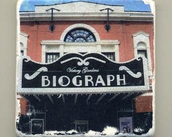 Victory Gardens Biograph Theater in Chicago -  Original Coaster