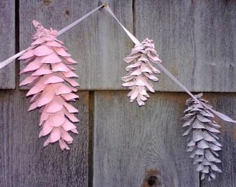 Pinecone Garland - Made to Match Wreath - Rustic Wedding - Nursery