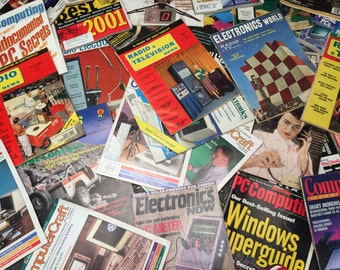 Assortment of Vintage Tech & Computer Magazines from the 1950's-2002 - Free Shipping