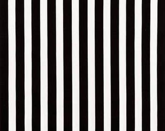Black and White Stripe fabric by Cotton Calico