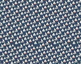Riley Blake 'By the Sea' Sailing Boat fabric