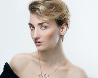Molecule necklace TNT necklace Gold necklace chemistry jewelry  chemistry necklace molecule necklace