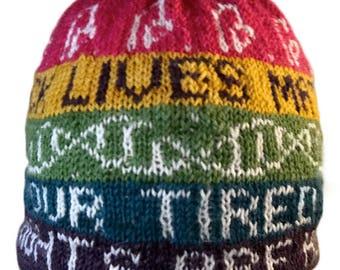 Resistance Hat Knitting Kit - Hand dyed mini skeins - Pattern