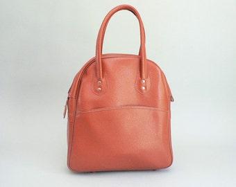 60s  Coral Vinyl Overnight Tote Bag