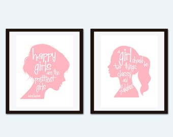 Audrey Hepburn Quote, Audrey Hepburn Wall Art,  Pink Wall Art, Coco Chanel Quote, Inspirational Quote, Girls Room Decor, Art for Girl
