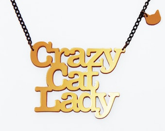 The ultimate necklace for Crazy Catladies!