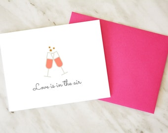 Wedding Shower Card / Bridal Shower Card / Love is in the Air Card