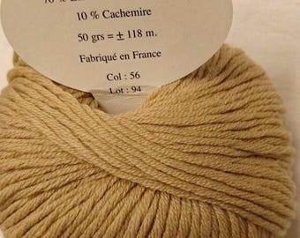 5 balls cashmere, wool and silk / / made in FRANCE