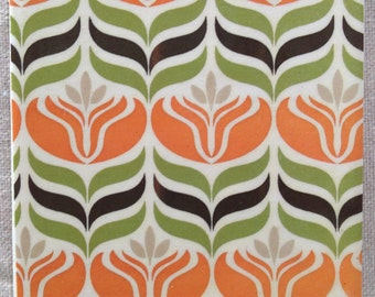 Ceramic Tile Coasters - Retro Style 019
