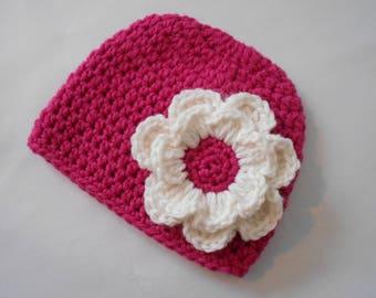 handmade baby bonnet, baby girl woolen Hat