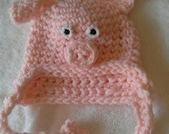 Fun piggy hat for your little oinker!