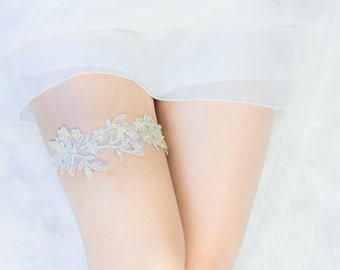 Vintage Gold Bridal Lace Wedding Garter