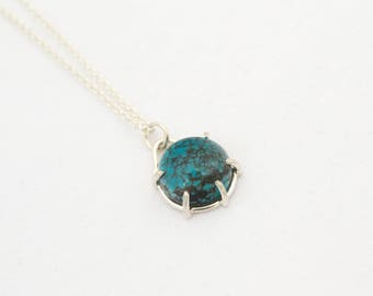 Sterling Silver Turquoise pendant - Handmade Necklace - One of a kind