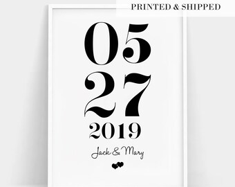 Special Dates Print, Wedding Date Gift, Custom Print, Personalized Wedding Gift, Personalised Anniversary Gift, Important Dates Gift