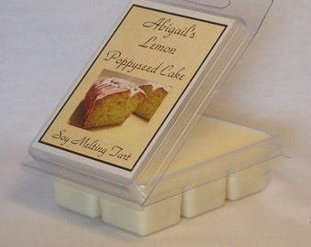 Lemon Poppyseed Cake Handmade Natural Soy Melting Tart by Abigail's on Main