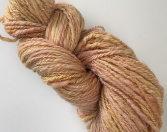 Hand Spun Naturally Plant Dyed Romney Yarn / 135 yds, 3.5 oz