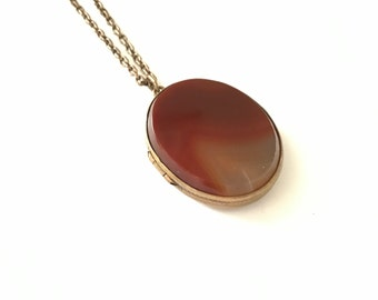 Large Antique Victorian Agate Locket