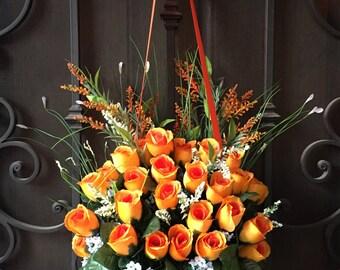 Wreath - Roses Wreath - Orange Wreath.