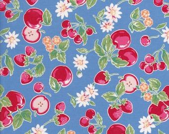 Orchard Kitchen - Apple Fabric - Strawberry Fabric - Cherry Fabric - Daisy Fabric - Blue Fabric - Lecien Fabric