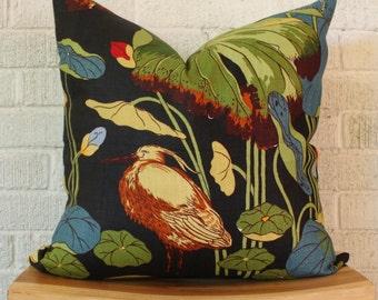Nympheus Pillow Cover, Egret Pillow, Bird Pillow, 20 inch