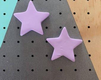 Statement Star Studs - Light Purple