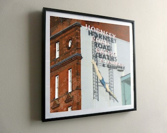 Hornsey Road Baths & Laundry by Day – flat print or framed options – posters also available – FREE UK postage