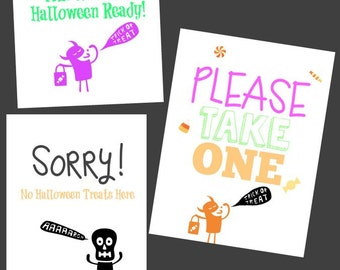 YES We have Halloween Candy Sorry, NO we don't! Halloween Printables! (Includes ALL 3 Instant Downloads!)