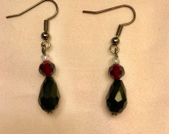 Simple Black Drop Earrings