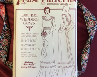 Vintage 1930s Wedding Gown Pattern (Uncut)