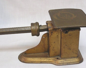 Vintage Triner Brass Post Office Scale 9 Ounce Capacity Circa 1950s