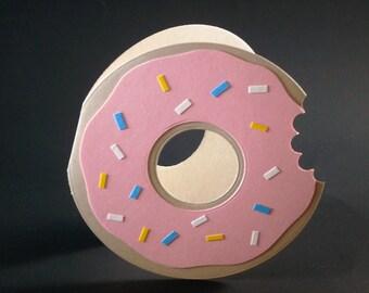 Donut Card, Donut Birthday Card, Donut Thank You Card