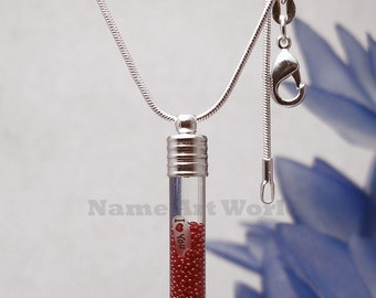Name On Rice Jewelry with Micro Bead / necklace. Unique gift