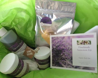 DIY, Do It Yourself Sunscreen Kit - DIY - Make your own sunscreen – safe and chemical-free, SPF 30 – without fancy equipment or ingredients.