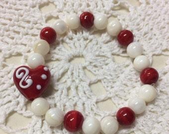 Love jewelry red love bracelet heart bracelet heart jewelry love heart bracelet love heart jewelry gift for her