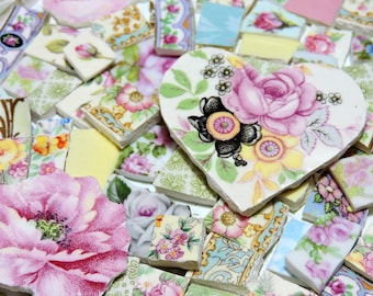 China Mosaic Tiles - SHaBBY CHiC CoLLeCTiON - 170 AnTiQuE CHiNA Tiles
